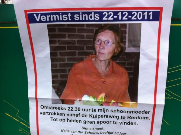 Vermissing Renkum (22 december 2011- …)